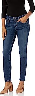 Silver Jeans Co. 女式 Elyse 中腰直筒牛仔裤