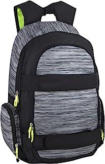 男孩、男士和学校的滑板背包 - 多功能滑板背包带肩带 杂灰色