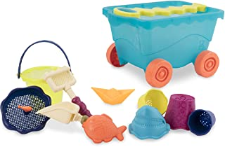 B. 玩具 - Wavy-Wagon - 旅行沙滩车(海蓝色)带 11 个时髦沙子玩具 - 不含邻苯二甲酸盐和 BPA - 18 个月以上