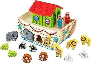 美国KidKraft诺亚方舟形状认知 配对积木儿童益智玩具