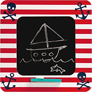 Premier Housewares 户外黑板海盗主题厨房黑板 MDF 粉笔板 红色/白色厨房黑板 高 30 X 宽 30 X 深 2 厘米