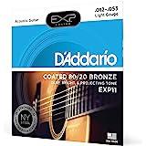 D'Addario EXP12-B25 涂层原声吉他弦EXP11 1-Pack Light, 12-53