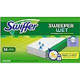 Swiffer Sweeper 湿拖把垫填充物用于地板拖把,采用 Febreze 薰衣草香草香草和舒适香味 36 片