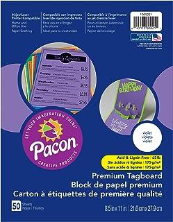 Pacon PAC1000021 高级标签板,紫罗兰色,50 张