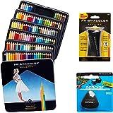 Prismacolor 优质艺术套装 - 高级彩色铅笔 132 件装,高级铅笔磨刀,1 包和不含乳胶的Scholar 橡…