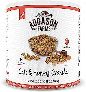 Augason Farms AF 燕麦和蜂蜜格兰诺拉麦片,32.5 盎司(约 999.9 克)#10 罐