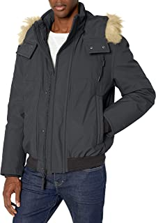 Marc New York by Andrew Marc 男式 Boerum 保暖短夹克带可拆卸毛皮帽
