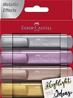 Faber-Castell 輝柏嘉 熒光筆 154640 46 金屬,1件4支裝