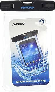 Mpow IPX8 防水通用耐用水下干燥袋,触摸响应透明 Windows,智能手机防水密封系统壳 - 白色