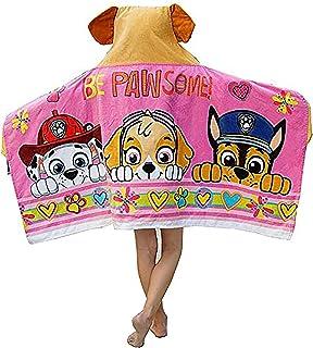 Paw Patrol 狗狗巡逻队女孩连帽浴巾 - Pawsome Pups