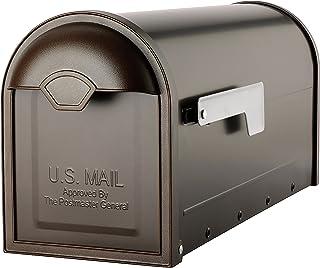 建筑信箱 8830RZ-10 温斯顿柱式安装邮箱,抛光青铜