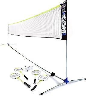 Zsig Family Pro 羽毛球套装 - 6 米教练优质便携式网,球拍和穿梭机大号,多色,6 米