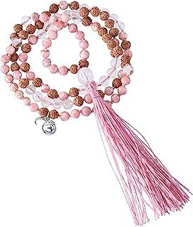 Mala 宝石链,矿石水晶,红桃红(制品)