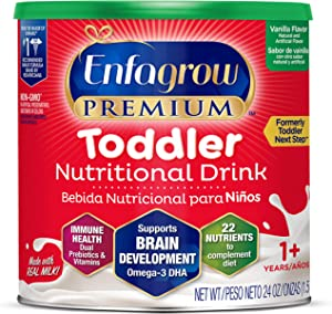 Mead Johnson 美赞臣 Enfagrow 3段婴幼儿奶粉 (适合1-3岁) 香草味 24盎司/ 约680.39克罐装 (含DHA, PDX+GOS益生元组合)
