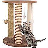 猫抓挠柱 - 成人猫和小树,3 个大划伤杆,木制底座游戏区和珀奇,PETMAKER 家具刮痕