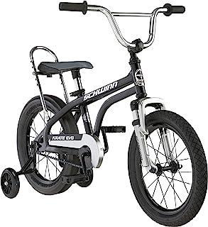 Schwinn Krate Evo 经典儿童自行车,16 英寸车轮,3-5 岁男孩和女孩,可拆卸训练轮,杯垫刹车,多色