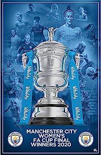 Be The Star Posters 曼彻斯特城足球俱乐部 2020/21 女子足总杯冠军 A2 足球海报/印花/墙艺术 - 官方*产品 - 提供 A3 和 A2(A2),蓝色