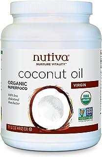 Nutiva Organic 冷榨初榨椰子油,78盎司(约2.21千克),2.3升