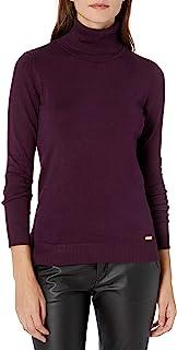 Calvin Klein 女士 纯色 高领衫
