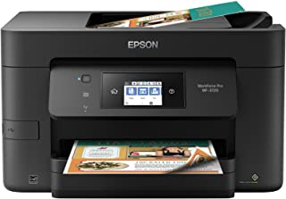 Epson 爱普生 WorkForce Pro WF-3720 无线一体式彩色喷墨打印机,复印机,扫描仪,带 Wi-Fi 直接,Amazon Dash 补充就绪