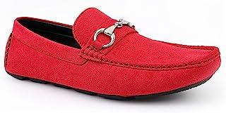 Jetrano Aviation - 男式拖鞋 - 男式休闲鞋 - 男式麂皮驾驶员 - Mocassins 男式一脚蹬鞋 - 带金属钻头和精细缝合的司机鞋