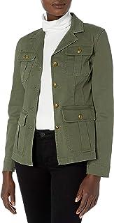 Chaps 女士弹力棉斜纹实用夹克