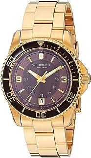 Victorinox 女士 241614 Maverick 模拟显示屏瑞士石英金色手表