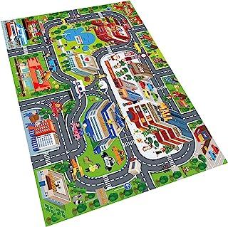 Oriate Kids Dream Mat 现代城市玩具活动游戏垫,亲子互动游戏地图地毯,理想的儿童教育道路交通城市生活假扮游戏 552-C