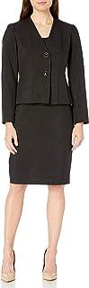 Le Suit 女式 2 粒扣闪亮新颖短裙套装