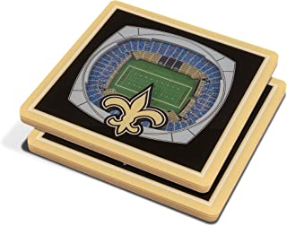 YouTheFan NFL 3D Team StadiumViews 4x4 杯垫 - 2 件套