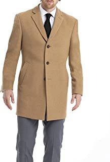 Calvin Klein 男士 羊毛混纺 修身大衣外套