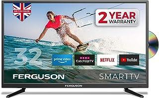 Ferguson F3220RTSF 32 英寸智能 LED 电视/DVD 下载应用程序 Netflix Disney +