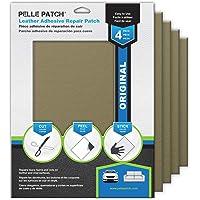 Pelle Patch - 4X 皮革和乙烯基胶粘修复贴片 - 25 种颜色可选 - 原装 8x11 - 米黄色