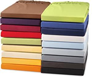 托普床单床笠托普, 弹簧床床单针织棉, 件布适用于弹簧床托普件床单160克 / 平方米 celin ATEX Perla 托普床单 Apfelgrün Grün Topper 140x200-160x200 cm