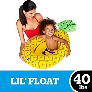 BigMouth Inc Happy Rainbow Lil' 防水浮饰内有闪光 - 适合 1-3 岁婴儿和儿童的游泳池漂浮,非常适合初学者游泳者,充气耐用 Petite Pineapple