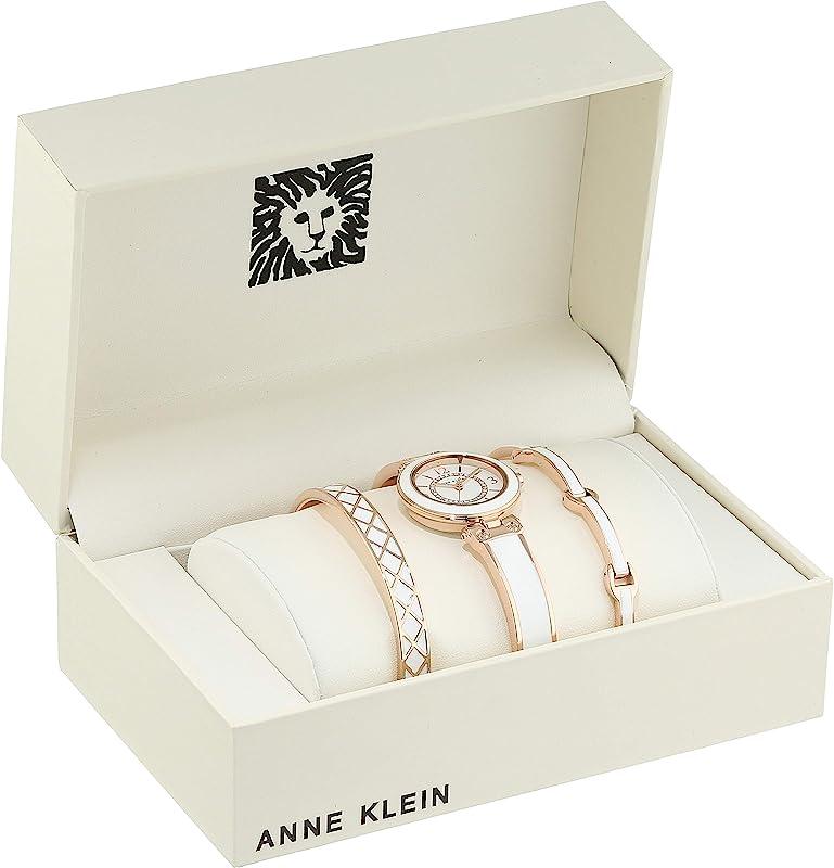 Anne Klein 安妮克莱因 AK 施华洛世奇水晶 女式手表手链套装 AK/3296WTST 镇店之宝¥260.29