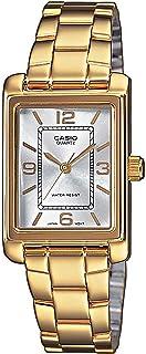 Casio Casio 女士模拟石英手表不锈钢表链 LTP-1234PG-7A