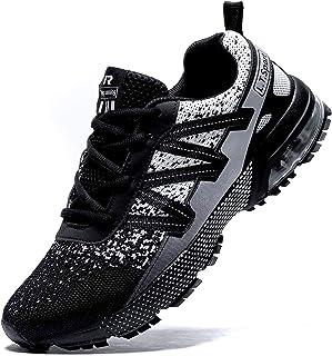 koppu 男式跑步鞋气垫透气步行轻质健身训练运动鞋健身慢跑运动休闲鞋运动鞋尺码 6-12
