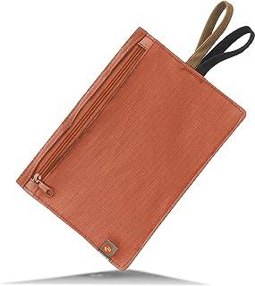 Lewis N. Clark RFID 屏蔽隐藏旅行皮带钱包 橘红色(Rust)