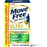 Move Free 益节 基于果酸钙和果硼酸钙的超快舒适片剂超值装(一盒64粒),补品,可在1小颗药丸中提供经验证的舒适…