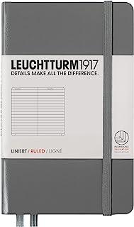 LEUCHTTURM1917 灯塔口袋型横格笔记本深灰色硬封皮(A6)