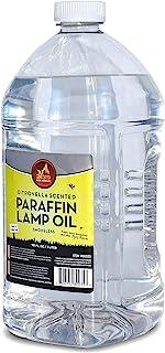 香茅香型灯油 - 无烟、无异味昆虫和驱蚊石石石蜡灯油,适用于室内和室外灯笼、手电筒、蜡烛 - Ner Mitzvah 出品 101 Ounces (3 Liters)