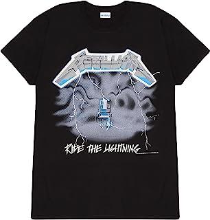 Metallica Ride The Lightning Women's Boyfriend Fit T恤,官方商品 | 礼物创意 适合她、乐队、音乐、金属音乐