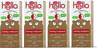 Hello 口腔护理牙膏儿童2岁以上 Organic Apple 4份