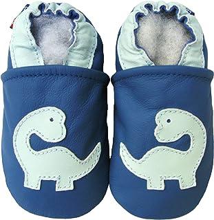 Carozoo 婴儿鞋软底皮革婴儿床拖鞋婴儿学步儿童学前儿童学步鞋(9 种设计)