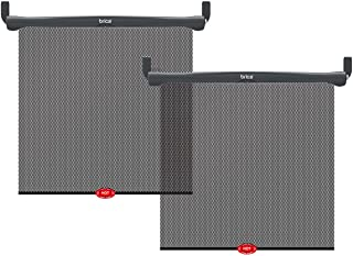 Munchkin 满趣健 Brica by Munchkin车窗遮阳帘,提供UVA UVB防护,安全视野高级网格和热警报系统,黑色,2件装