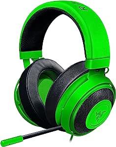 Razer Kraken 锦标赛版本:THX 空间音频 - 定制音频和麦克风控制 - 冷却凝胶注入耳垫 - 游戏耳机适用于电脑、PS4、Xbox One、开关、移动设备RZ04-02050600-R3U1 Kraken Pro V2 - Green 3.5mm