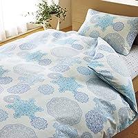 Nishikawa 西川 西川家居用品 被套 ON22 垫布蕾丝 单人 150×210厘米 浅灰蓝色 2138-2213…