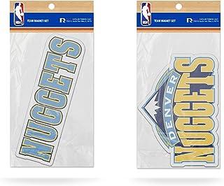 Rico Industries SLM86001 NBA 丹佛掘金队 2 件装模切球队标志磁铁套装