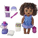 Baby Alive魔法搅拌机,婴儿娃娃浆果奶昔,带搅拌机配件,饮料,湿,吃,黑发玩具,适合 3 岁及以上儿童